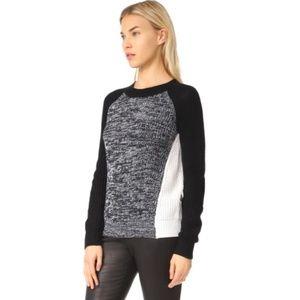 BB Dakota Black White Colorblock Sweater Small